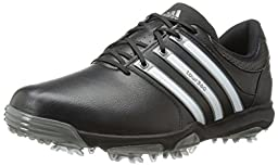 adidas Men\'s Tour360 X WD Golf Shoe,Black/Running White/Dark Silver,12 D(M) US