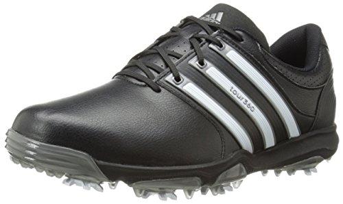 adidas Men's Tour360 X Cleated Golf Shoe,Black/Running White/Dark Silver,11 M US
