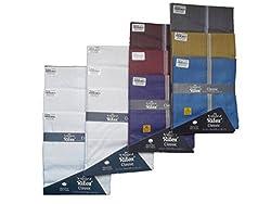 Ritex White & Dark Colour 100% Cotton Handkerchiefs for Men- Pack Of 12 Pcs.