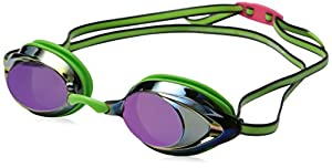 Speedo Vanquisher 2.0 Mirrored Goggles, Key Lime, One Size