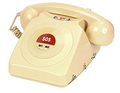 Geemarc Cl64 Corded Telephone- Auto Dial To Between 1 - 3 Numbers. Ideal For Dementia Sufferers- Uk Version