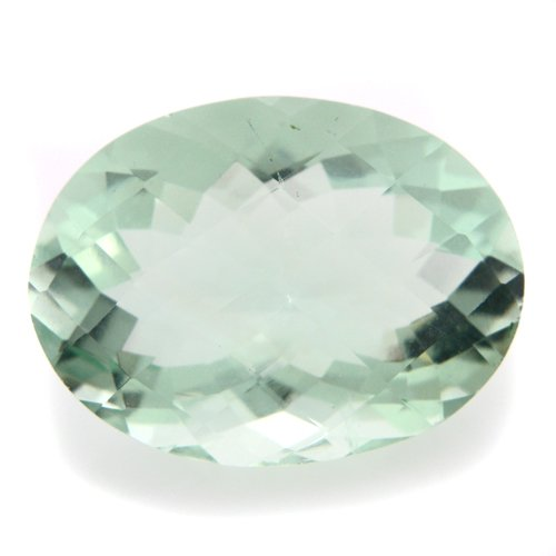 Natural Huge Green Fluorite Loose Gemstone Oval Checker Cut 14.20cts 17*13mm