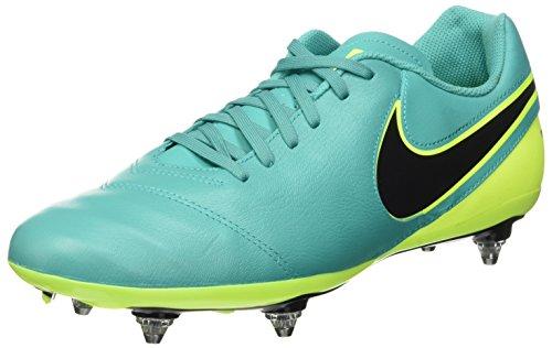 Nike Tiempo Genio II Leather Sg, Scarpe da Calcio Allenamento Uomo, Multicolore (Clear Jade/Black-Volt), 43 EU