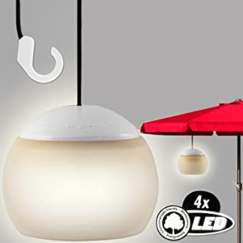 Battery Operated One Touch Hanging Garden Parasol Lantern Camping Lamp Gazebo LED Light