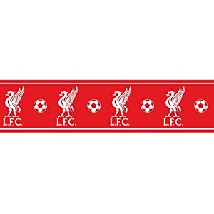 Liverpool F.C. Wallpaper Border- wallpaper border- width 13.5cm- length 5m- official licensed product from Wallpaper / Lighting