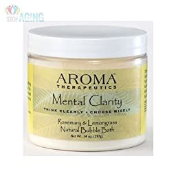 Aroma Therapeutics Mental Clarity Natural Bubble Bath - Rosemary & Lemongrass
