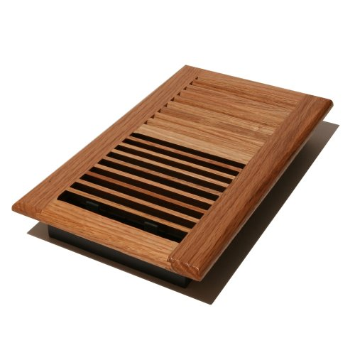 Decor Grates WL612W-N 6-Inch by 12-Inch Wood Wall Register, Natural Oak (Accord Wall Register compare prices)