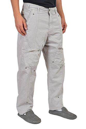 john-galliano-mens-gray-multiple-pockets-cargo-pants-us-38-it-52