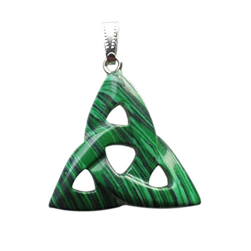 Mz® 1Pcs 38x35x6mm Man-made Malachite Triangle Pendant Bead