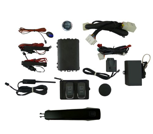EasyGO AM-GMT-8555 Smart Key Remote Start and Alarm System with Black Door Handle (08 Gmc Sierra Auto Start Remote compare prices)