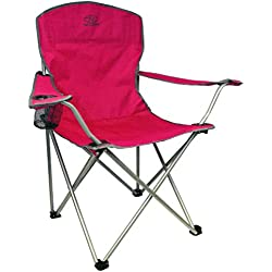Highlander Traquair Folding Chair - Silla de camping, color rojo