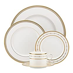 Lenox 844724 Sharon Sacks Jeweled Jardin 5-Piece Place Set, White