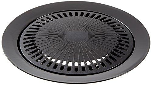 bright-spark-1-piece-32-cm-diameter-powder-coated-steel-non-stick-grill-plate-grey