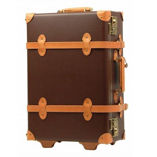 LEGEND WALKER キャリーバッグ トランク 2輪 TSAロック 撥水加工 本革製 40L (Brown)