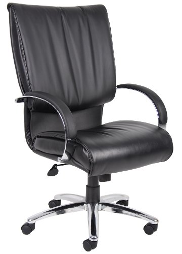 boss-office-products-b9701c-high-back-leatherplus-executive-chair-with-chrome-finish-in-black