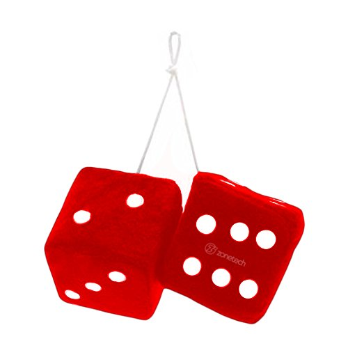 Zone-Tech-Red-Hanging-Dice-A-Pair
