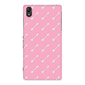 Premium Pink And Arrow Multicolor Back Case Cover for Sony Xperia Z2