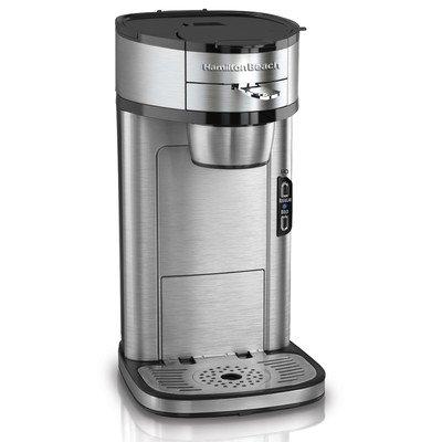 Hamilton Beach Single Serve Scoop Coffee Maker, Stainless Steel (49981)