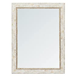 999Store fiber framed decorative wall mirror or bathroom mirror grey(24x18 Inches)