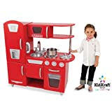 Kidkraft Red Retro Kitchen 53156 Activity Playset (Red)by Kidkraft