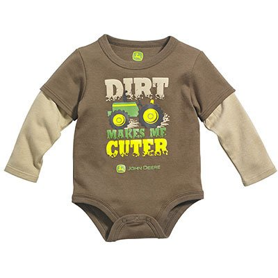 John Deere Infant Boys 'Dirt Makes Me Cuter' Bodyshirt- 9-12 Months