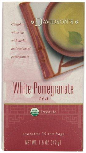 Davidson'S Tea White Pomegranate, 25 Count Tea Bag