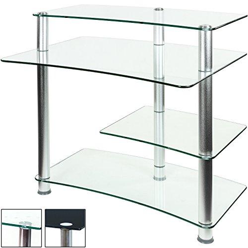 Stilista glas computertisch varianten klarglas und for Computertisch glas