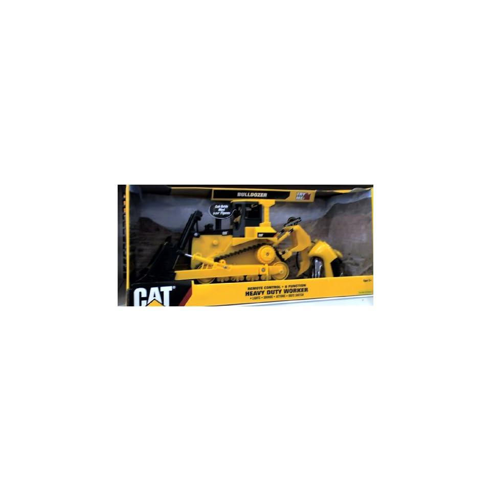 Caterpillar Bulldozer Remote Control : Caterpillar cat remote control heavy duty worker toy