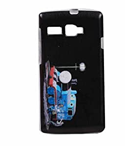 Cute Painting Exclusive Rubberised back Case Cover For Intex 3G Strong