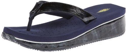 Volatile Women's Downunder Wedge Sandal,Navy,7 B US