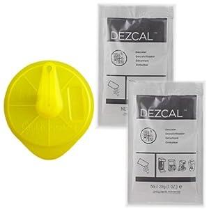 Braun Tassimo Cleaning Disc + 2 Packs Dezcal Descaler by Tassimo, Urnex