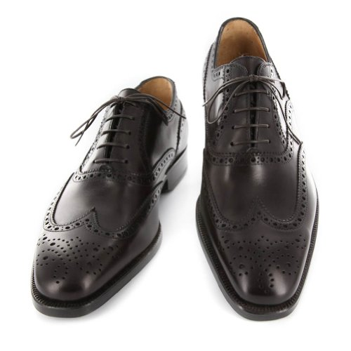 New Sutor Mantellassi Dark Brown Leather Shoes 76 Prices