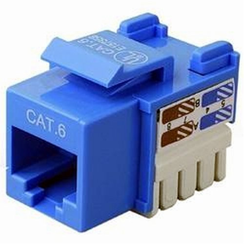 Cables Unlimited UTP-7100B-5 CAT-6 Keystone Jack, 5 Pack (Blue)