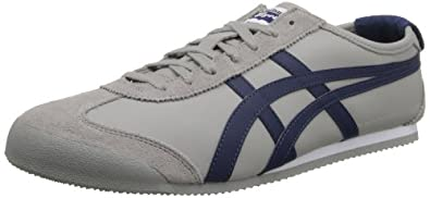 Onitsuka Tiger Mexico 66 Fashion Sneaker,Grey/Deep Blue,10 US/11.5 Women's M US