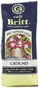 Cafe Britt Costa Rica Decaffeinated Ground Coffee, 12-Ounce Bags (Pack of 2) from Cafe Britt