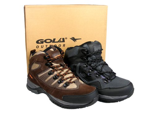 Mens Black Brown Gola Hiking Walking Boot Mountaineering Boots Size 8 9 10 11 12