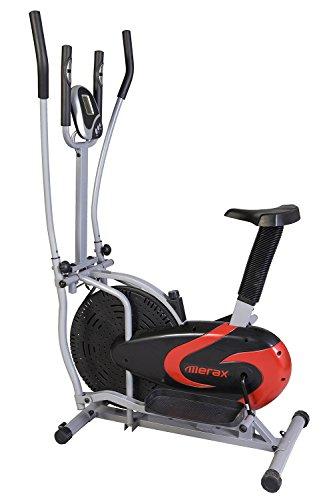 Merax® 2-in-1 Elliptical Bike Cross Trainer Upright Exercise Fan Bike