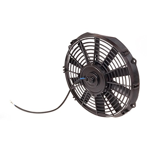 "Partsam 2Pcs 12"" Universal Slim High Performance Radiator Cooling Fan #Tsk-Raf-12+Fmk-X2"