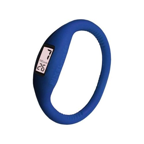 Pixelmoda Digital ROYAL BLUE Color Water Resistant Italian Style Unisex Silicone Watch – LARGE 17 CM