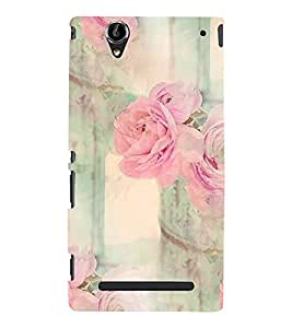 Floral Pattern Back Case Cover for Sony Xperia T2