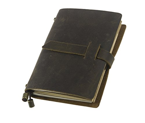 UNIQUE HM&LN Genuine Leather Journal Notebook Refillable Planner 5.3