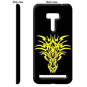 TheGiftKart Orange Stare Of The Yellow Dragon Back Cover Case for Asus ZenFone Selfie - Multicolor