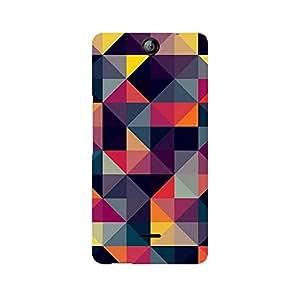 Ebby Squares Premium Printed Case For Micromax Canvas Juice 3 Q392