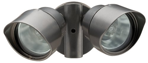 Lithonia OFTR 200Q 120 LP BZ M12 Designer Adjustable Twin Head Flood Light Quartz Halogen, Bronze