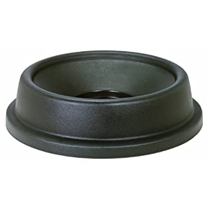 "CONTINENTAL COMMERCIAL PRODUCTS CMC 3233GY Grey Funnel Top Lid, 22-1/4"" Diameter x 5-1/2"" Height, For Huskee 32 gallon Recycle Trash Can (Case of 4) at Sears.com"