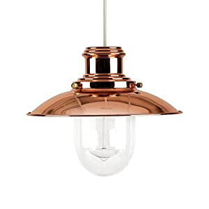 MiniSun - Modern Metal And Glass Fisherman's Vintage Style Lantern Easy Fit Ceiling Lamp Pendant from MiniSun