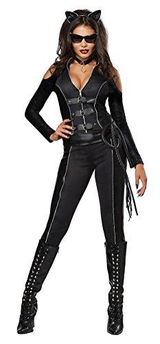 [POPLife Gothic Batman Catwoman Fatal Feline Adult Costume] (Catwoman Costume Eye Makeup)