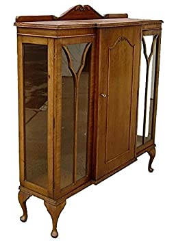 English Art Deco 1925 Bookcase in Satin Oak