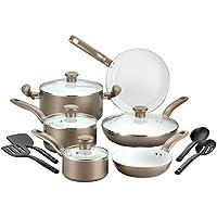 T-fal C728SE64 Initiatives 14-Piece Cookware Set (Champagne)