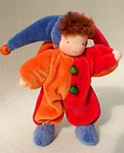 Evi Court Jester Flexible Doll - 4.75 in.